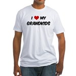 I Love My Grandkids Fitted T-Shirt