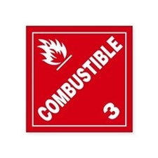 ADR Sticker - 3 Combustible