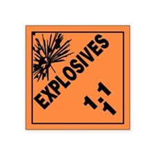 ADR Sticker - 1.1 Explosives