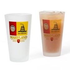 Maryland Gadsden Flag Drinking Glass