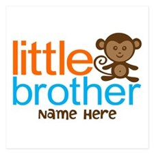 Personalized Monkey Little Brother Invitations