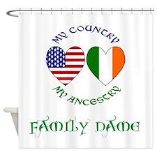 Irish / USA Heritage Customizable Shower Curtain