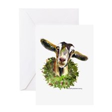 Christmas Goat Greeting Card