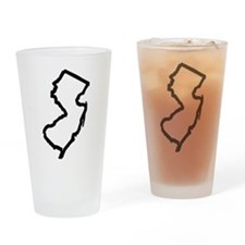 Jersey Outline Drinking Glass