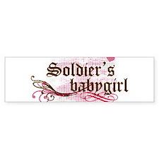 Soldiers Babygirl Bumper Bumper Sticker
