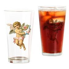 Cute Vintage Victorian Angel /Cherub Drinking Glas