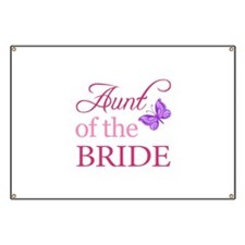 Aunt Of The Bride (Butterfly) Banner