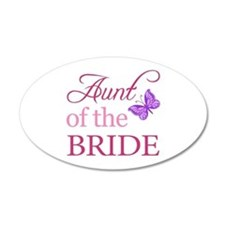 Aunt Of The Bride (Butterfly) Wall Decal
