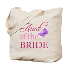 Aunt Of The Bride (Butterfly) Tote Bag