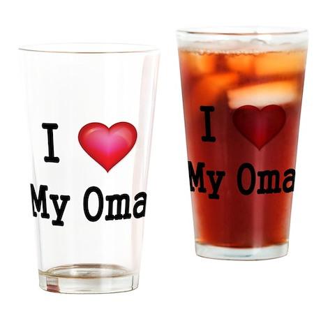 I LOVE MY OMA 2 Drinking Glass
