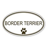 Oval Border Terrier Oval Sticker