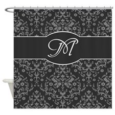 Monogram Damask Shower Curtain