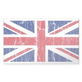 Vintage Union Jack Rectangle Decal