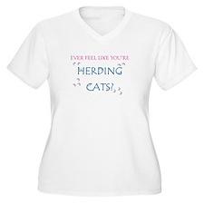 Herding cats color Plus Size T-Shirt
