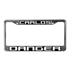 CARLOS DANGER License Plate Frame