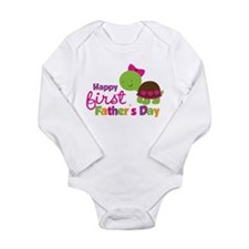 Girl turtle happy 1st fathers day Body Suit