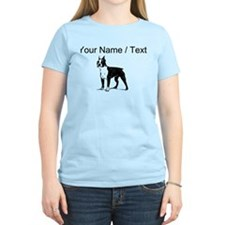 Custom Boston Terrier Sketch T-Shirt