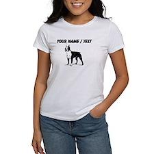 Custom Boston Terrier Sketch T-Shirt