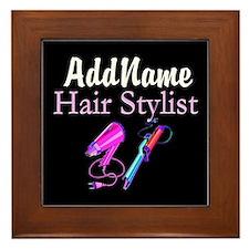SNAZZY HAIR STYLIST Framed Tile