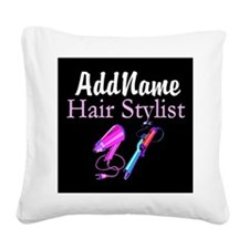 SNAZZY HAIR STYLIST Square Canvas Pillow