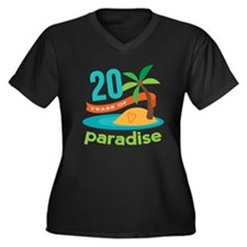 20th Anniversary Paradise Women's Plus Size V-Neck