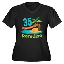 35th Anniversary (Tropical) Women's Plus Size V-Ne