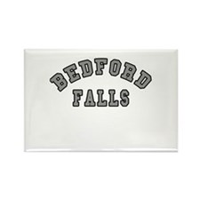 Bedford Falls Grey Lettering Rectangle Magnet (10