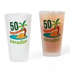 50th Anniversary paradise Drinking Glass