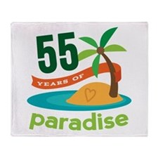 55th Anniversary paradise Throw Blanket