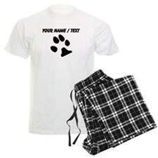 Custom Dog Paw Print pajamas