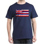 Hawaii Hawaiian Flag Navy Blue T-Shirt