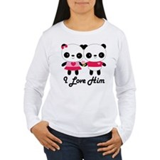 Panda Couple I Love Him T-Shirt