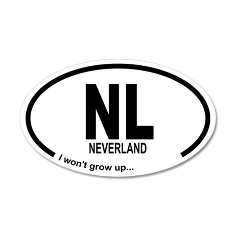 Car Oval Neverland Wall Decal