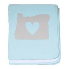 Heart Oregon baby blanket
