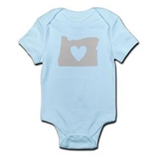 Heart Oregon Infant Bodysuit