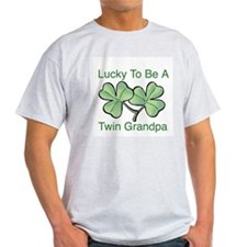 Lucky To Be A Grandpa of Twin T-Shirt