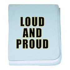 Loud Proud baby blanket