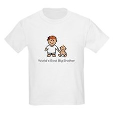 """World's Best Big Brother"" Kids T-Shirt"