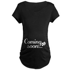 Coming Soon - Baby Footprints Maternity T-Shirt