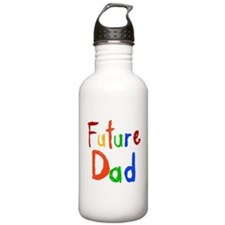 Primary Colors Future Dad Water Bottle