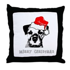 Border Terrier Christmas Pillow