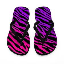 Pink And Purple Zebra Pattern Flip Flops