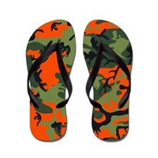 Camo Print Hunter Orange Flip Flops