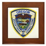 Oregon Corrections Framed Tile