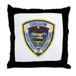 Oregon Corrections Throw Pillow