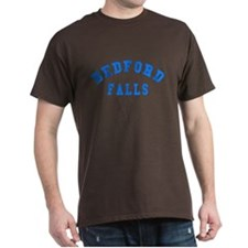 Bedford Falls Black T-shirt with Blue Letters