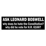 Leonard Boswell for Congress? (sticker)