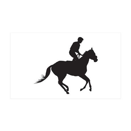 Jockey Silhouette 35x21 Wall Decal