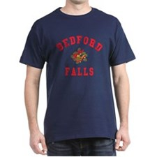 Bedford Falls with Bells Navy Christmas T-shirt