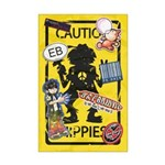 Caution Hippies! - Poster